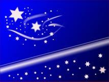 La Navidad azul Stars el fondo Fotos de archivo