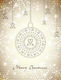 La Navidad Backgraund del brillo Imagen de archivo libre de regalías