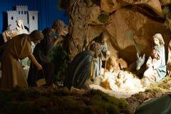 La Navidad Belén Fotos de archivo libres de regalías