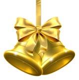 La Navidad Belces del oro Imágenes de archivo libres de regalías