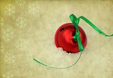 La Navidad Bell en fondo de la vendimia Fotos de archivo