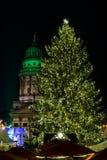 La Navidad Berlín de la noche Imagen de archivo libre de regalías