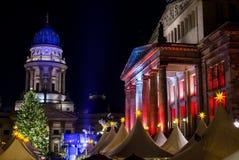 La Navidad Berlín de la noche Fotografía de archivo