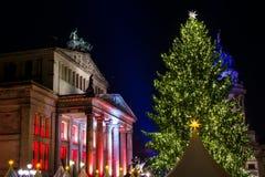 La Navidad Berlín de la noche Foto de archivo