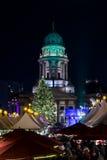 La Navidad Berlín de la noche Fotos de archivo libres de regalías