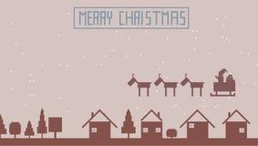 la Navidad 8bit fotos de archivo