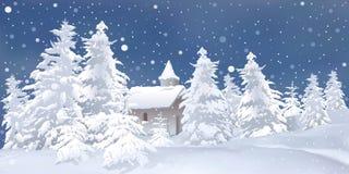 La Navidad blanca Foto de archivo libre de regalías