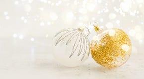 La Navidad blanca con nieve Fotografía de archivo libre de regalías
