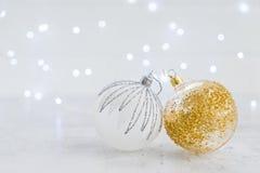 La Navidad blanca con nieve Imagenes de archivo