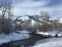 La Navidad blanca en Sun Valley Fotografía de archivo libre de regalías
