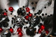 La Navidad blanco y negro Fotos de archivo libres de regalías