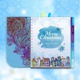 La Navidad Ciudad decorativa Imagen de archivo libre de regalías
