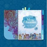 La Navidad Ciudad decorativa Fotos de archivo libres de regalías