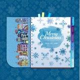 La Navidad Ciudad decorativa Imagen de archivo