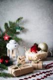 La Navidad Composición de la Navidad Regalo de la Navidad, perno Fotografía de archivo libre de regalías