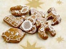 La Navidad con el pan de jengibre Imagenes de archivo