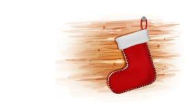 La Navidad con rojo pega la decoración, tarjeta de la invitación para el espacio de la copia del fondo del diseño del arte de los imagen de archivo libre de regalías