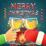 La Navidad con Santa Claus Celebration Success Imágenes de archivo libres de regalías