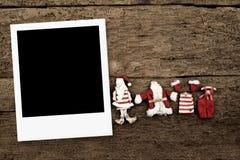 La Navidad con un marco de la foto Fotografía de archivo