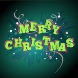 La Navidad 3d en un fondo verde Fotos de archivo