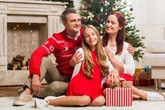 La Navidad de la familia Fotos de archivo libres de regalías