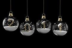 La Navidad de la bola de cristal con Año Nuevo Fotografía de archivo libre de regalías