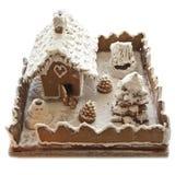 La Navidad de la casa de pan de jengibre Imagen de archivo libre de regalías