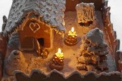 La Navidad de la casa de pan de jengibre Fotografía de archivo libre de regalías