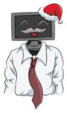La Navidad de la celebración del ordenador del patrón libre illustration