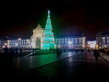 La Navidad de la ciudad Foto de archivo libre de regalías