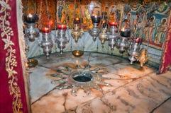 La Navidad de la cueva Imágenes de archivo libres de regalías
