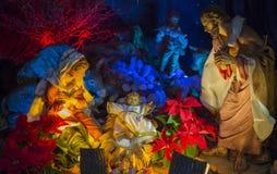 La Navidad de la escena de la natividad Fotos de archivo libres de regalías