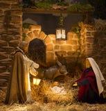 La Navidad de la escena de la natividad Imagen de archivo libre de regalías
