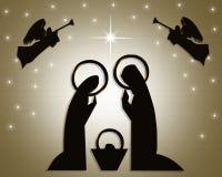La Navidad de la escena de la natividad   Fotografía de archivo libre de regalías