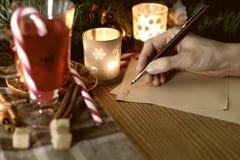La Navidad de la escritura de la mano Foto de archivo libre de regalías
