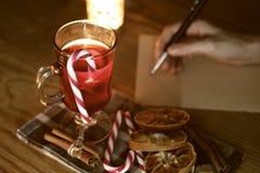La Navidad de la escritura de la mano Fotografía de archivo libre de regalías