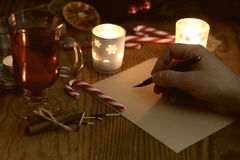 La Navidad de la escritura de la mano Imagen de archivo