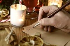 La Navidad de la escritura de la mano Imagen de archivo libre de regalías
