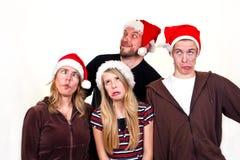La Navidad de la familia Fotografía de archivo libre de regalías