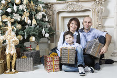 La Navidad de la familia Imagen de archivo