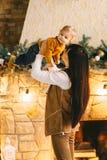 La Navidad de la madre y del hijo Foto de archivo