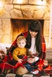 La Navidad de la madre y del hijo Fotos de archivo