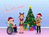 La Navidad de la parte para el Special necesita a niños Foto de archivo libre de regalías