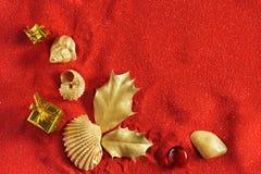 La Navidad de la playa Imágenes de archivo libres de regalías