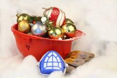 La Navidad de la seguridad y Año Nuevo Foto de archivo
