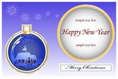 La Navidad de la tarjeta Imagen de archivo libre de regalías