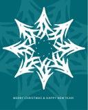 La Navidad de la tarjeta de felicitación stock de ilustración