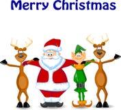 La Navidad de la tarjeta de felicitación con los ciervos Fotografía de archivo libre de regalías