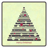 La Navidad de la vendimia Fotos de archivo libres de regalías