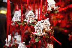 La Navidad de las decoraciones Fotografía de archivo libre de regalías